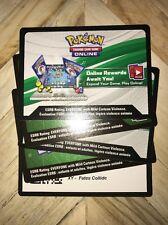 5 X Pokemon TCG Online Code Cards Bundle - XY - Fates Collide