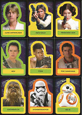 Star Wars Journey to Force Awakens ~ CHARACTER STICKERS 18-Card Insert Set