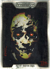 Terminator Salvation Topps Colour Sketch Card One of a Kind Artist - Luis Diaz