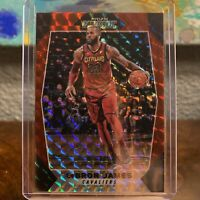 2017-18 Panini Prizm Mosaic Red #80 LeBron James CAVS LAKERS CHAMPIONSHIP MVP