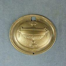 Antique French Brass Pediment Gilt Ormolu Furniture Ornament Vase Ram Head