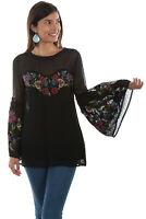 Scully Women's Embroidered Swiss Dot Tunic HC497