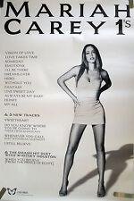 RARE MARIAH CAREY 1'S 1998 VINTAGE ORIGINAL MUSIC RECORD STORE PROMO POSTER