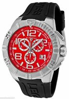 NEW Swiss Legend 40118-05 Mens Super Shield Chronograph Red Dial Watch Date 100M