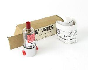 """NEW Watts F504 Series FluidAir Miniature Filter F504-02AHX64, 1/4"""", 150 PSI Max."""