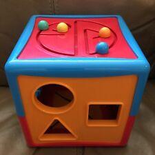 Battat Educational Shape Sorter Activity Cube Shapes ABC 123 Plastic Baby Toy