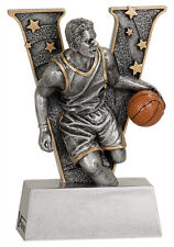 "5"" V Series Resin Basketball MaleTrophy  JDSV702"