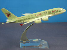 Solid QATAR AIRWAYS AIRBUS A380 Passenger Airplane Alloy Plane Diecast Model C