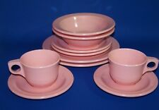 Pink Melamine Dishes Vintage Plates Dinner Bread Butter Cup Saucer Bowl L Salsey