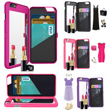 Luxury Card Slot Wallet Phone Flip Case Cover Mirror For iPhone5/7/7plus  Lot