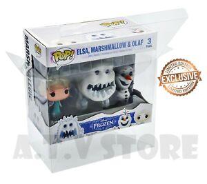 ATV Protector / Case For 3 Pack Frozen (Elsa/Marshmallow/Olaf ) Funko Pop x1