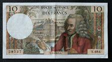 France - Francia - Billet de 10 Francs Voltaire du 3/6/1971 TTB+ / VF+