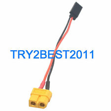 JR Futaba Female to Female XT60 Connector Adapter 20awg 15cm