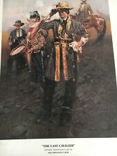 "Don Prechtel Limited Edition Print ""The Last Cavalier"" Confederate, Civil War"