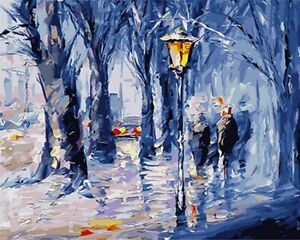 Lanterna invernale Christmas View Paint By Number Kit DIY Number Canvas...