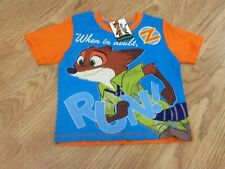 Girls  Disney Zootropolis Size 3-4 Years T-Shirt - Brand New With Tags