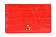 Tory Burch Parker Croc-Embossed Fold-able Card Case | One Size | Kir Royale