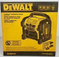 Brand New DeWalt DCR018 18V/20V/12V Max Corded/Cordless Compact Worksite Radio