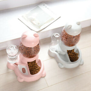 2.2L Automatic Pet Food Water Dispenser Dog Cat Rabbit Feeder Bottle Bowl Dish