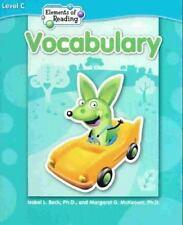Steck Vaughn Elements of Reading Lvl C Vocab. (2005)N(R6 19 2