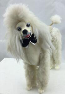 Vintage Barbie Poodle Dog Prince #7938 1984 White Standard Black Tie Poseable