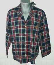 NWT Mens XL Polo Ralph Lauren Red Green Plaid Flannel Pajama Set 2 Pants & Shirt