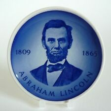 """ROYAL COPENHAGEN ALUMINIA - ABRAHAM LINCOLN - PLAQUETTE 3"""" PIN DISH 8CM TRAY VGC"""