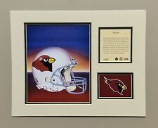 Arizona Cardinals 1994 Matted Football Helmet Lithograph Print by Kelly Russell
