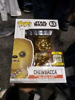 Star Wars Celebration Exclusive Funko Chewbacca Gold Pop