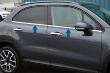 Chrome Side Door Window Sill Trim Set Covers To Fit Fiat 500X (2014+)