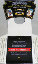 -Sealed- 1996 -Canadian Club- Signed/Autograph/Auto Hof Baseball Card Pack