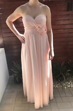 Light Pink Formal Prom Cocktail Evening Bridesmaid Wedding Dress Gown Size 10