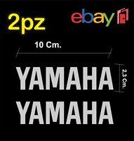 2x adesivi YAMAHA per moto e scooter - colore argento - racing moto