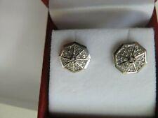 10k White Gold Diamond Stud Earrings (#477)