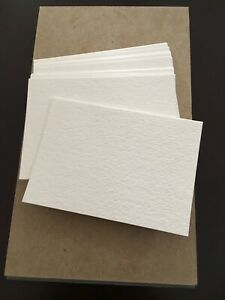 100 BLANK Art Cards For ACEO ATC Watercolor Cardstock Cut to 2.5x3.5, 140lb/300g