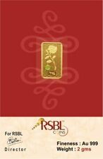 RSBL eCoins 2 gm Gold Bar 24 carat purity 999 Fineness- WITH TAX INVOICE
