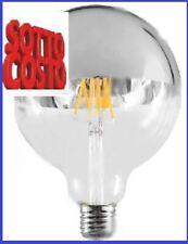 DURALAMP LAMPADINA E27 FILAMENTI LED GLOBO G125 CALOTTA CROMATA 5,5W