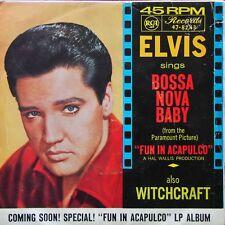 Single - Elvis Presley, Bossa Nova Baby - 1963 RCA Victor 47-8243