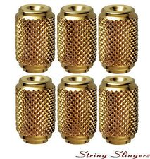 Schaller 6x Replacement Tuner/Machine Head Buttons Knurled Barrel, Gold 11070500