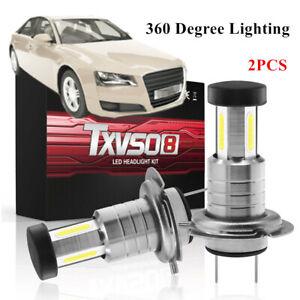 360° 110W Car H7 LED Headlight Lamp Kit Bulbs Lighting 6000K White Fog Light&DRL