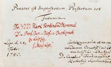 1745 Hommel Siegel Eigenhändiges Albumblatt mit Unterschriften