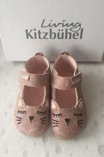 Living Kitzbühel Kinder Hausschuhe Babyballerina Katze altrosa gold imperial Neu