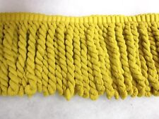 Yellow Bullion fringe 16cm fabric upholstery trimming SOLD PER MT sewing trim