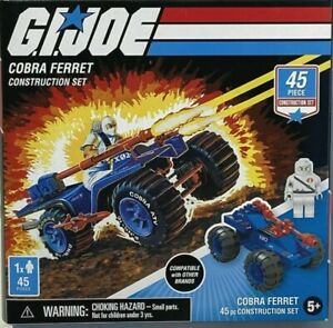 ⚡GI Joe Cobra Ferret & Storm Shadow 45 Pc Construction Set By Hasbro