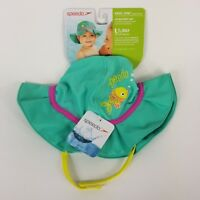 fb85cd2468b Speedo Swim UV Bucket Hat Toddler S M 6-12M Turquoise Sun Protection UV50+