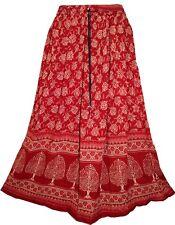 India Skirt Waist Women Dress Long High Maxi Tutu Short Full Ethnic Boho Crinkle
