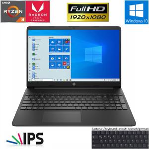 HP Notebook 15,6 Zoll AMD Ryzen 3 3250U 8GB DDR4 256GB SSD FHD IPS Win 10 Laptop