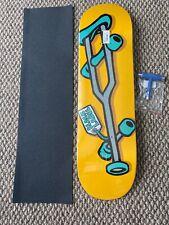 "Black Label Skateboard Deck OG Crutch 8.68"" X 32.63"" Grip T Tool New"