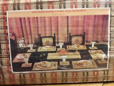 NIP Vintage Bamboo Washable Table Centre, Side, and Tea Placement Mats