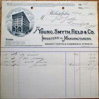 Young, Smyth, Field & Co. 1902 Letterhead/Billhead - Philadelphia, PA Penn